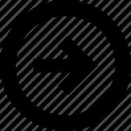 arrow, arrows, circle, direction, move, navigation, right icon