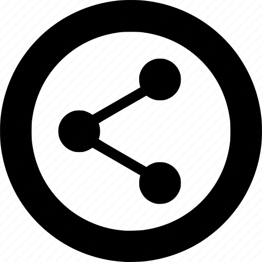 circle, media, multimedia, network, share, sharing, social icon