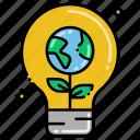 energy, light, renewable, sustainable icon
