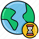 globe, limited, resource, scarcity icon