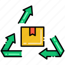 arrows, box, recycling, upcycling