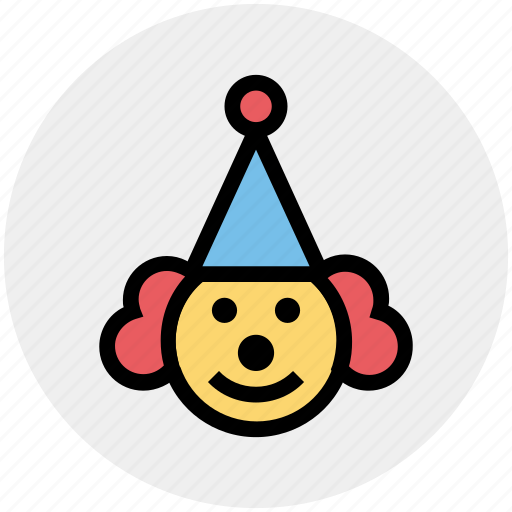 Buffoon, circus, clown, hat, jester, joker, joker face icon - Download on Iconfinder