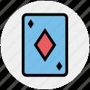 card, casino, circus, diamond, game, leisure