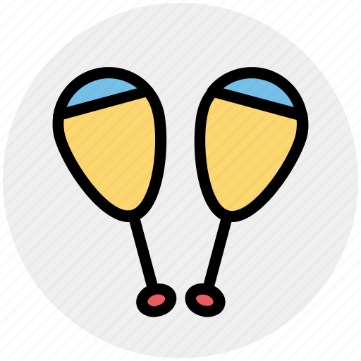 Bowling pins, circus, juggling, juggling club, maraca, show icon - Download on Iconfinder