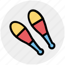 bowling pins, circus, juggling, juggling club, maraca, show