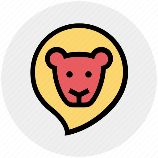 animal, baby animal, circus, face, lion, wild animal, zoo icon