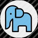 animal, animal show, circus, circus animal, circus elephant, performance icon