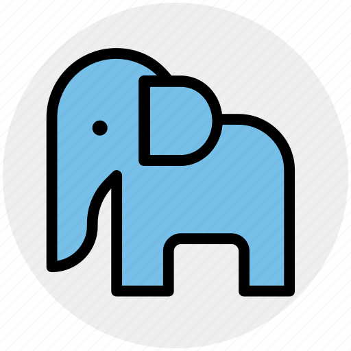 Animal, animal show, circus, circus animal, circus elephant, performance icon - Download on Iconfinder