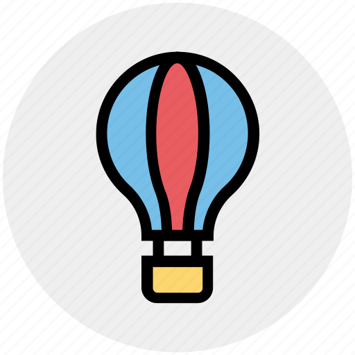 Balloon, charier, fly, gas balloon, hot air balloon, travel icon - Download on Iconfinder