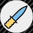 circus, knife, throwing, war, weapon icon
