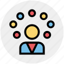 circus, circus show, jester, juggling, juggling clown, performance icon