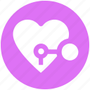 circus, heart, heart lock, key, keyhole, love, secret feelings
