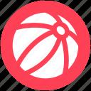 ball, beach ball, circus ball, juggling ball, play icon