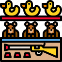 bear, duck, game, gun, shoot, shooting, target icon
