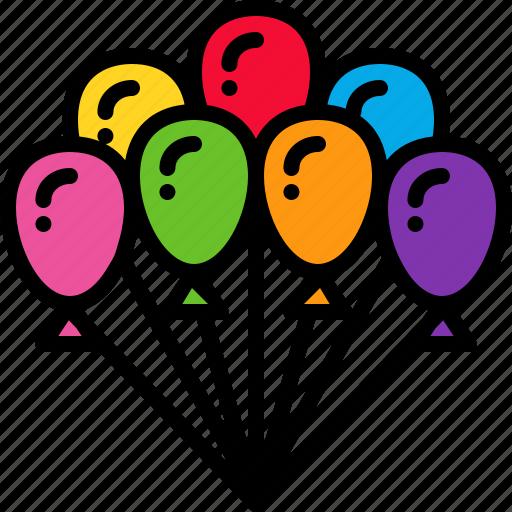 anniversary, balloon, carnival, celebration, decoration, festival, party icon