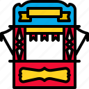 booth, carnival, circus, entrance, show, ticket icon