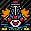 carnival, circus, clown, costume, face, fun, smile icon