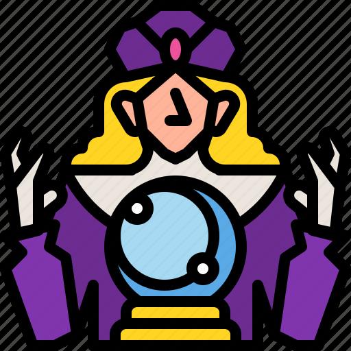astrology, ball, carnival, fortuneteller, gypsy, mystic, tarot icon