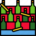 bottle, carnival, drips, drop, festival, game, ring icon