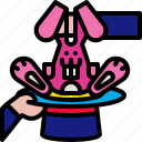 circus, hat, magic, magician, rabbit, show, trick icon