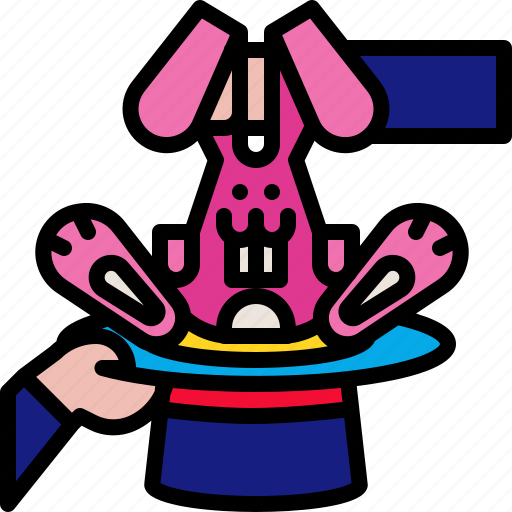 Circus, hat, magic, magician, rabbit, show, trick icon - Download on Iconfinder