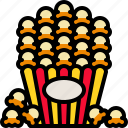 cinema, corn, delicious, popcorn, snack icon