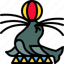 animal, circus, mammal, seal, sealion, show icon