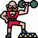 carnival, circus, man, muscle, power, strong icon