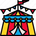 carnival, circus, entertainment, festival, tent icon