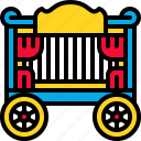 amusement, carnival, circus, traincar icon
