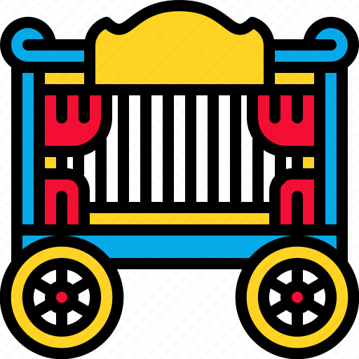 amusement, carnival, circus, traincar icon