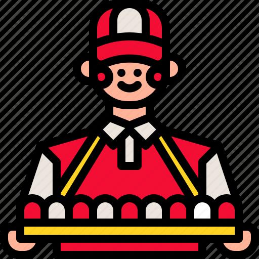 business, circus, customer, food, people, seller, vendor icon