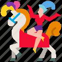 acrobat, carnival, circus, equestrian, horse, horseback, show
