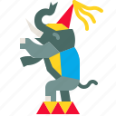 animal, circus, elephant, performance, show, zoo icon