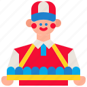 business, carnival, circus, customer, people, seller, vendor icon