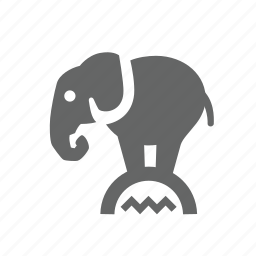 amusement, animals, circus, elephant, fun, stand, trained icon
