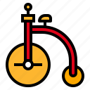 bicycle, circus, show, vehicle icon