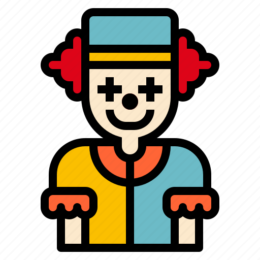 circus, clown, face icon