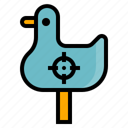 carnival, duck, shooting icon