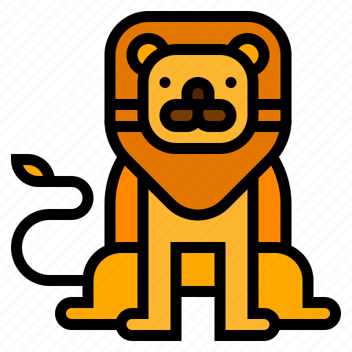 animal, circus, lion icon