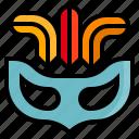 carnival, circus, mask, masquerade, show icon