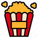 popcorn, show, snack icon