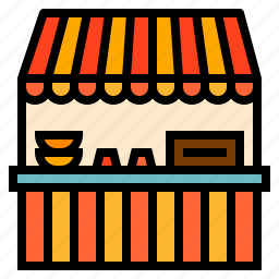 carnival, food, stall icon