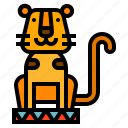 animal, circus, tiger icon