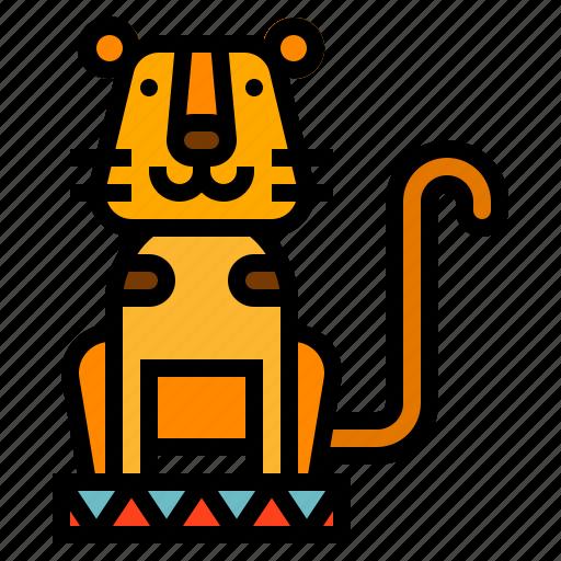 animal, circus, tiger icon