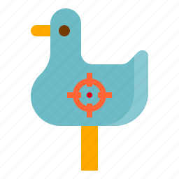 duck, shooting icon