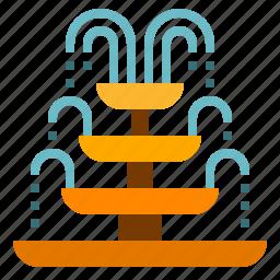 fountain, park icon