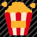 popcorn, snack icon