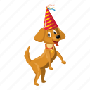 animal, cartoon, circus, circus dog, dance, dog, logo icon