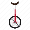 acrobat, cartoon, cycle, logo, monocycle, one, wheel icon